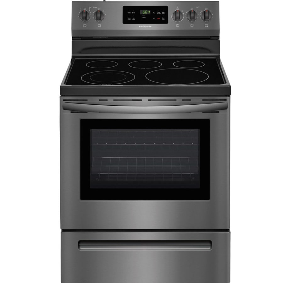 shop frigidaire smooth surface freestanding 5 element 5 4 cu ft self cleaning electric range. Black Bedroom Furniture Sets. Home Design Ideas