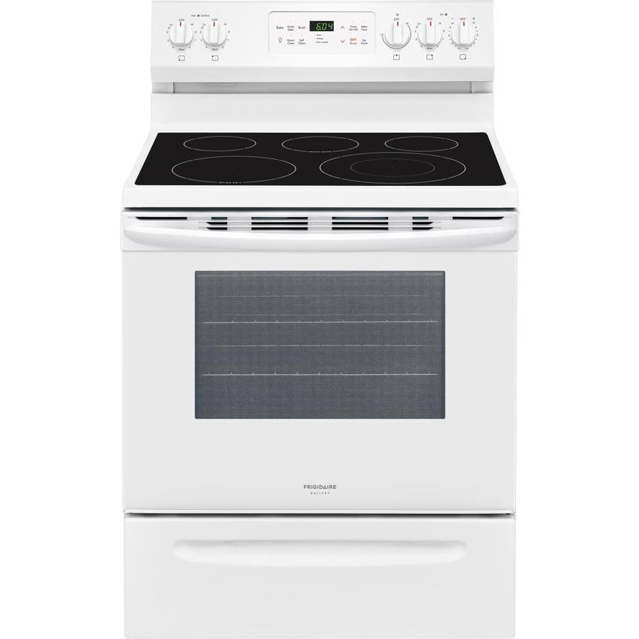 Frigidaire Gallery Smooth Surface Freestanding 5-Element 5.4-cu ft Self-Cleaning Convection Electric Range (White) (Common: 30-in; Actual: 29.875-in)