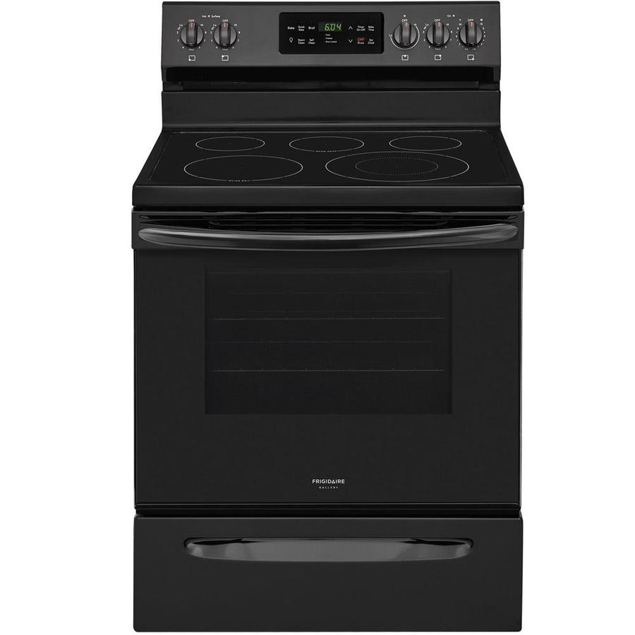 Frigidaire Gallery Smooth Surface Freestanding 5-Element 5.4-cu ft Self-Cleaning Convection Electric Range (Black) (Common: 30-in; Actual: 29.875-in)