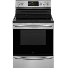 Frigidaire Gallery Smooth Surface 5-Element 5.7-cu ft Self-Cleaning True Convection Freestanding Electric Range (Smudge-Proof Stainless Steel) (Common: 30-in; Actual: 29.875-in)