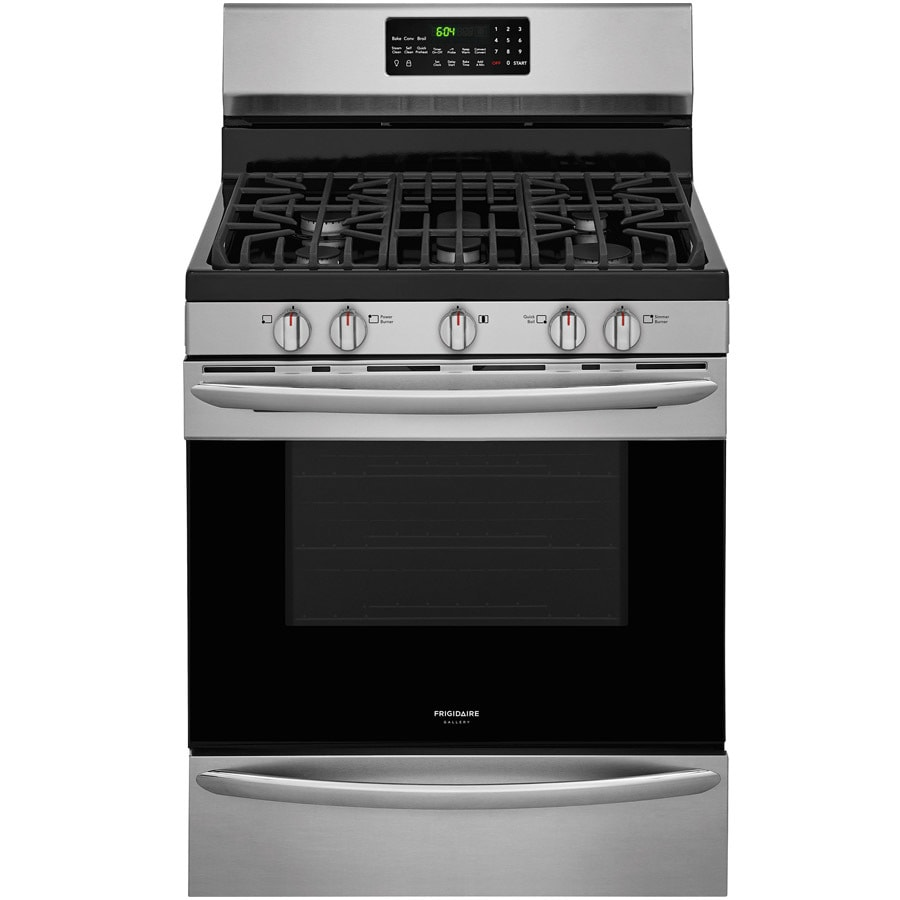 Frigidaire Gallery 5 Burner Freestanding 5 Cu Ft Self Cleaning Convection Gas  Range