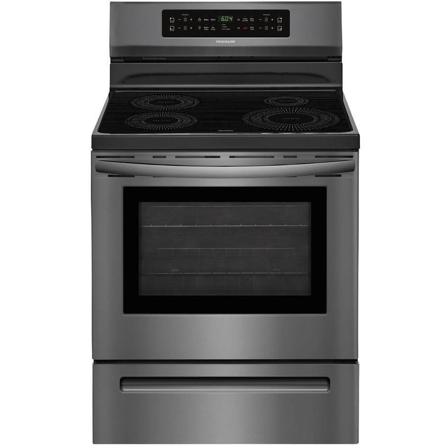 Frigidaire 4-Element 5.4-cu ft Freestanding Induction Range (Fingerprint-Resistant Black Stainless Steel) (Common: 30-in; Actual 29.875-in)