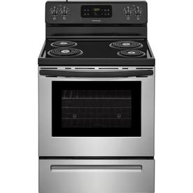 Frigidaire 5 3 Cu Ft Self Cleaning Freestanding Electric Range Stainless Steel