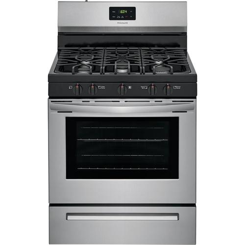 Frigidaire 5 Burners 5-cu ft Freestanding Gas Range (EasyCare Stainless  Steel) (Common: 30-in; Actual: 29.875-in) at Lowes.com