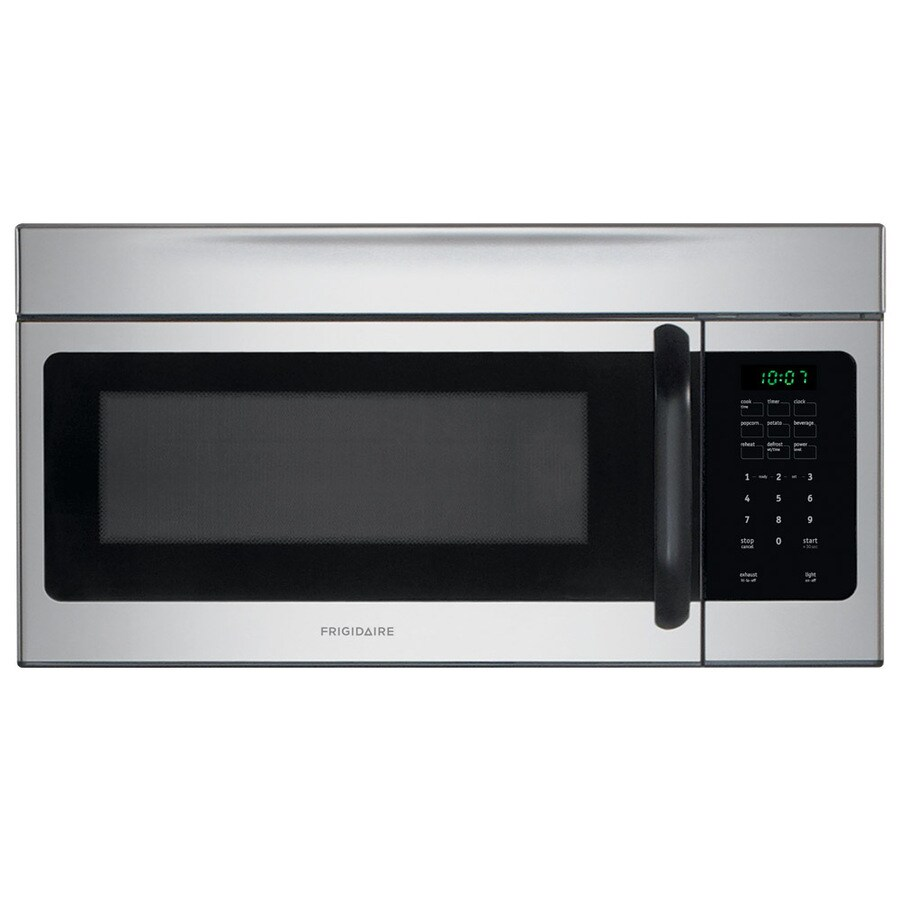 Frigidaire 1.6-cu ft Over-the-Range Microwave with Sensor Cooking Controls (Stainless Steel) (Common: 30-in; Actual: 29.88-in)
