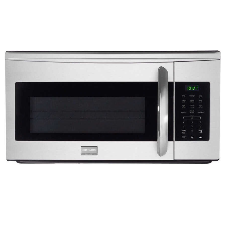 Lowes microwaves over the range white - Frigidaire Gallery 1 7 Cu Ft Over The Range Microwave With Sensor Cooking Controls