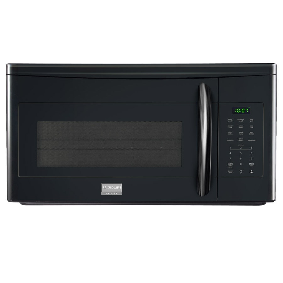 Frigidaire Gallery 1.7-cu ft Over-The-Range Microwave with Sensor Cooking Controls (Black) (Common: 30-in; Actual: 29.94-in)