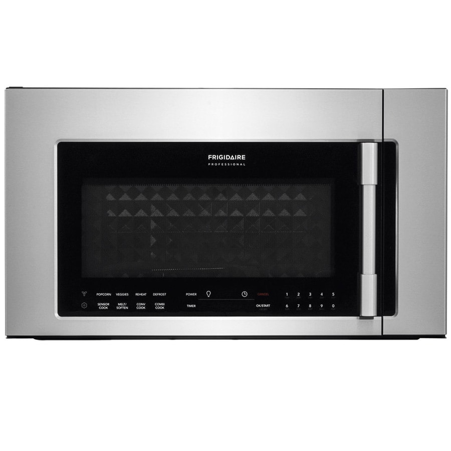 Frigidaire Professional 1 8 Cu Ft Over The Range Convection Microwave With Sensor Cooking