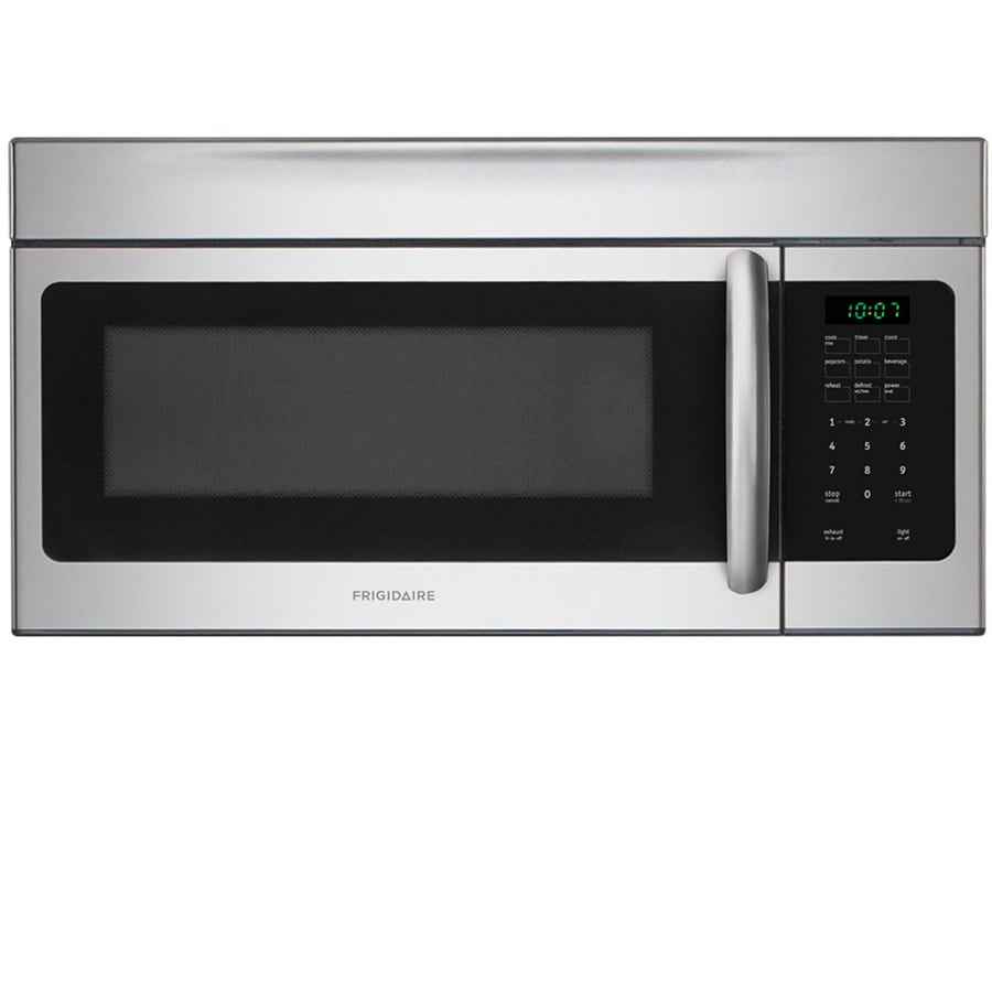 Lowes microwaves over the range white - Frigidaire 1 6 Cu Ft Over The Range Microwave Easycare Stainless Steel
