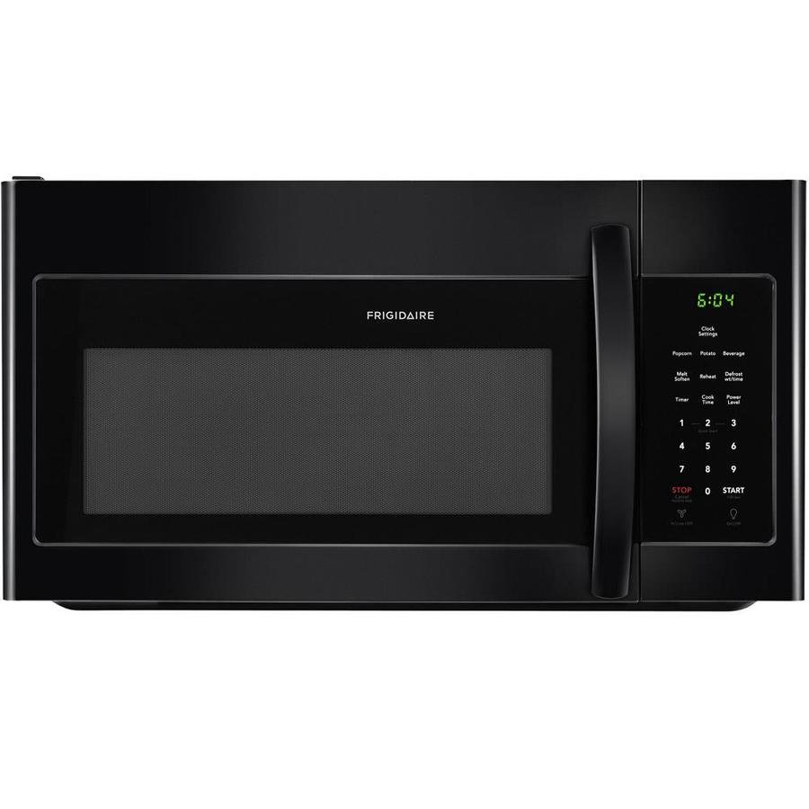 Frigidaire 1.6-cu ft Over-the-Range Microwave with Sensor Cooking Controls (Black) (Common: 30-in; Actual: 29.875-in)