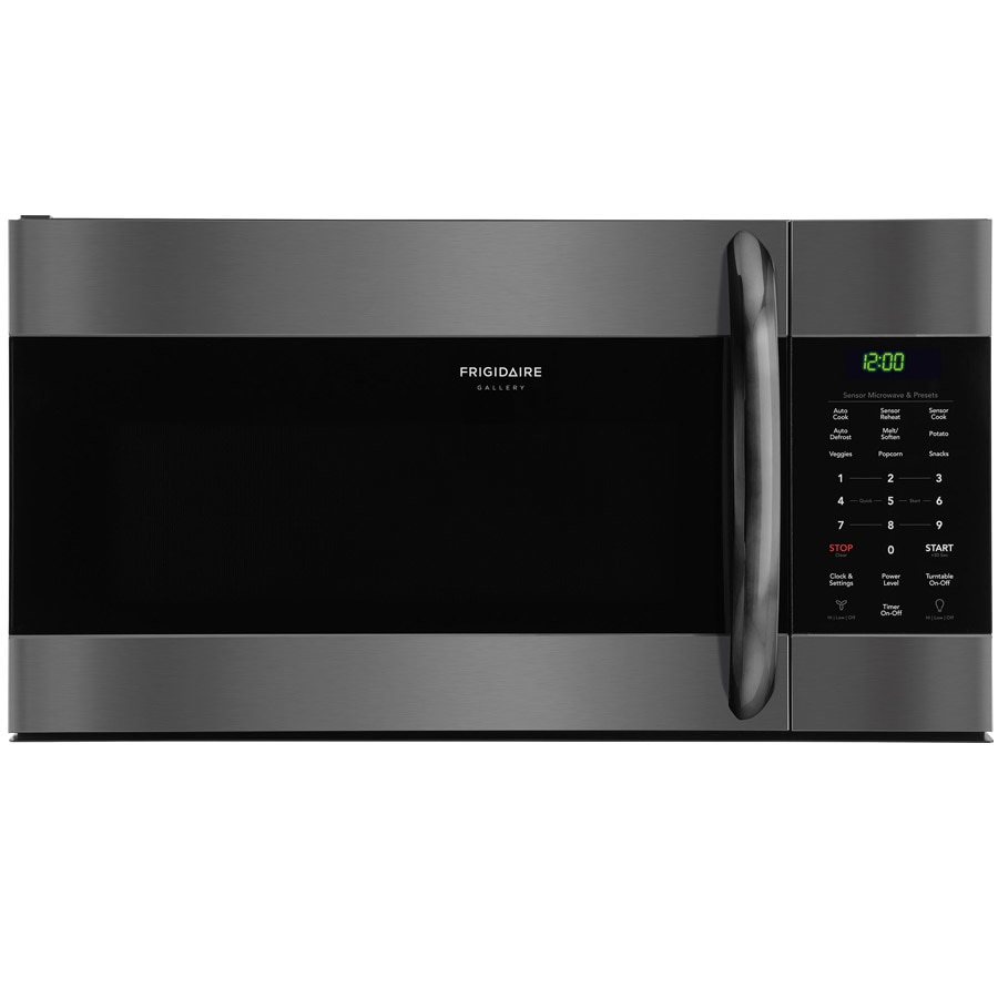 Frigidaire Gallery 1.7-cu ft Over-the-Range Microwave with Sensor Cooking Controls (Fingerprint-Resistant Black Stainless Steel) (Common: 30-in; Actual: 29.875-in)