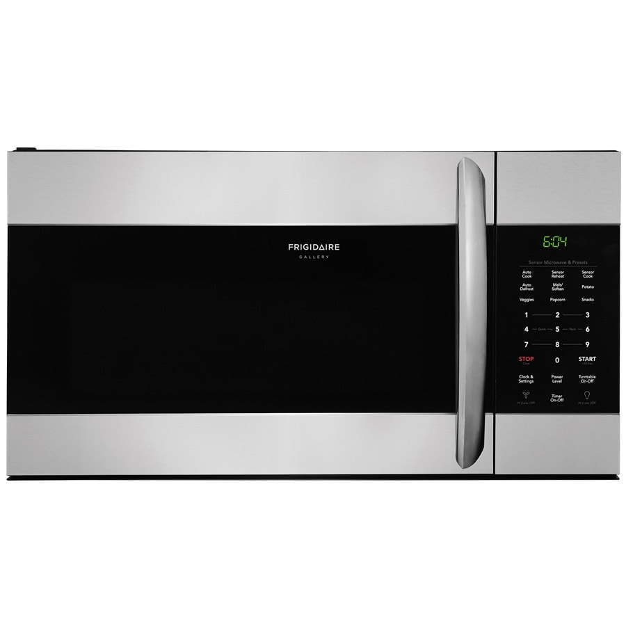 Frigidaire Gallery 1.7-cu ft Over-the-Range Microwave with Sensor Cooking (Smudge-Proof Stainless Steel) (Common: 30-in; Actual: 29.875-in)