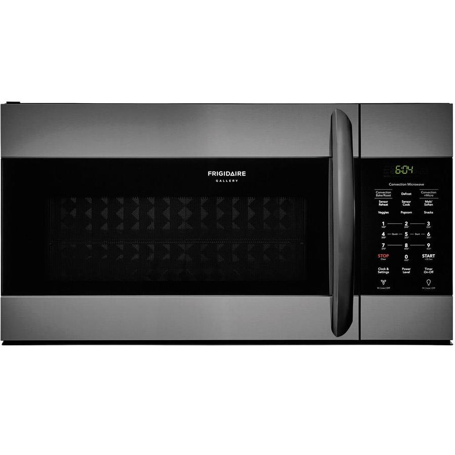 Frigidaire Gallery 1.5-cu ft Over-the-Range Convection Microwave with Sensor Cooking Controls (Fingerprint-Resistant Smudge-Proof Black Stainless Steel) (Common: 30-in; Actual: 29.875-in)