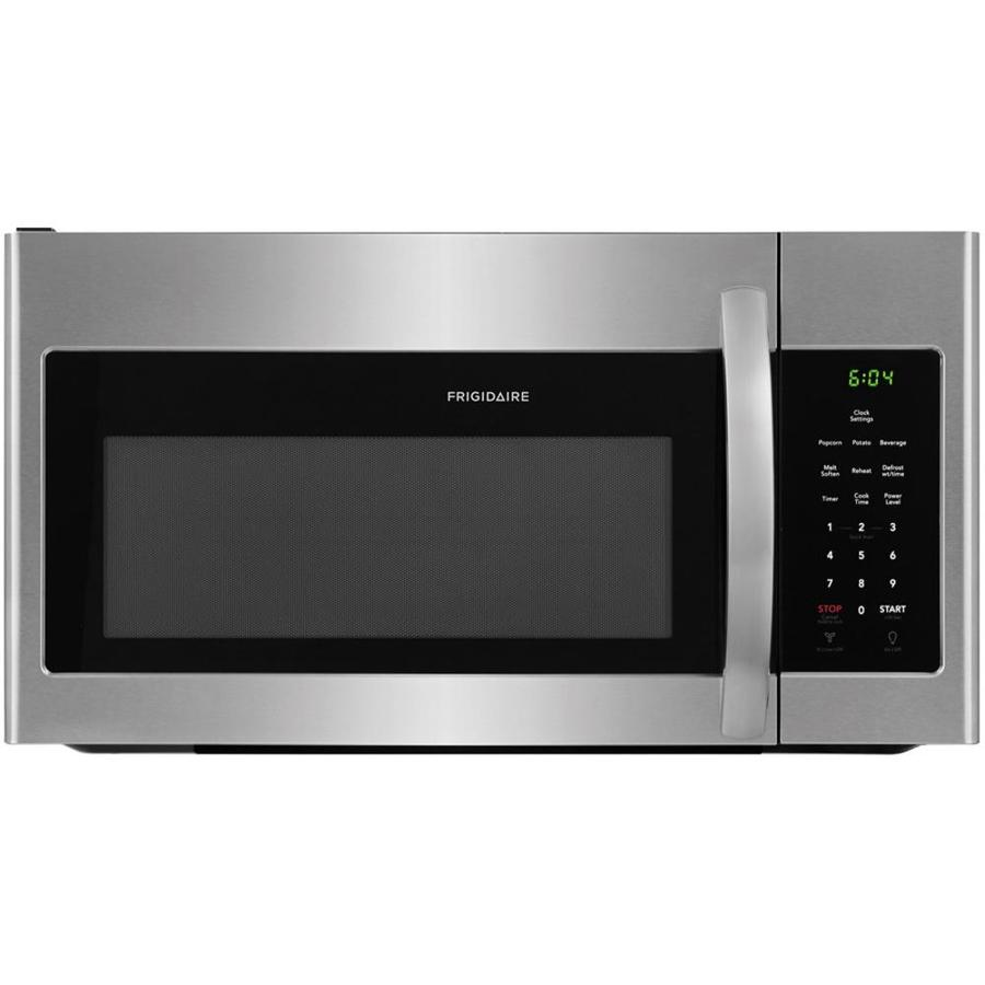 frigidaire 1 6 cu ft over the range microwave easycare stainless steel common 30 in actual. Black Bedroom Furniture Sets. Home Design Ideas