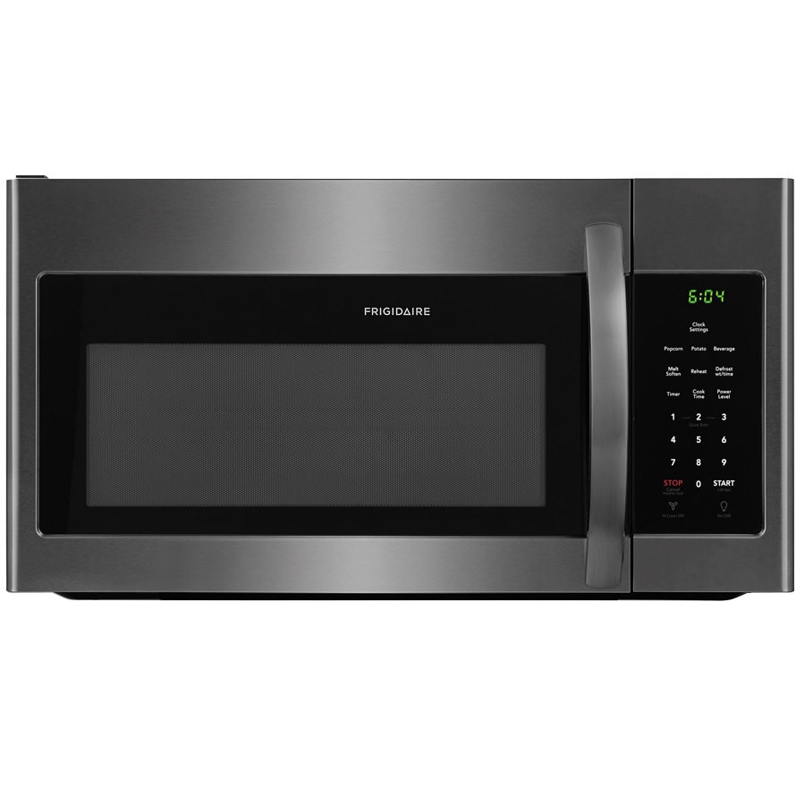 Frigidaire 1.6-cu ft Over-the-Range Microwave with Sensor Cooking Controls (Fingerprint-Resistant Black Stainless Steel) (Common: 30-in; Actual: 29.875-in)