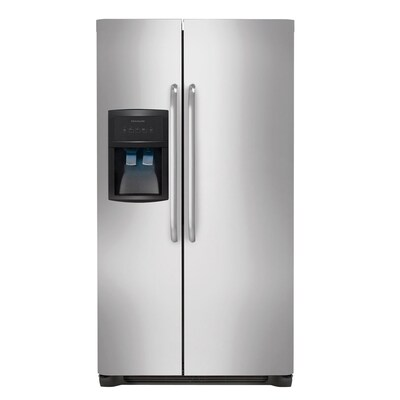 Frigidaire 26-cu ft Side-by-Side Refrigerator with Ice Maker