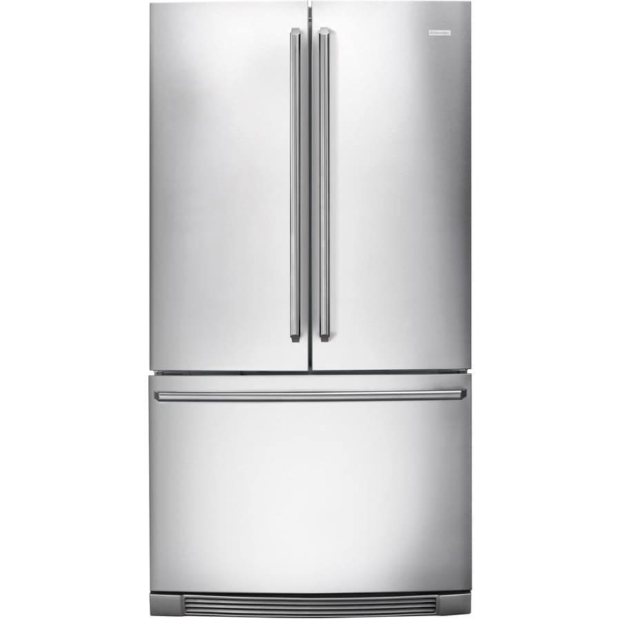 Electrolux 22.6-cu ft Counter-Depth French Door Refrigerator with Single Ice Maker (Stainless Steel)