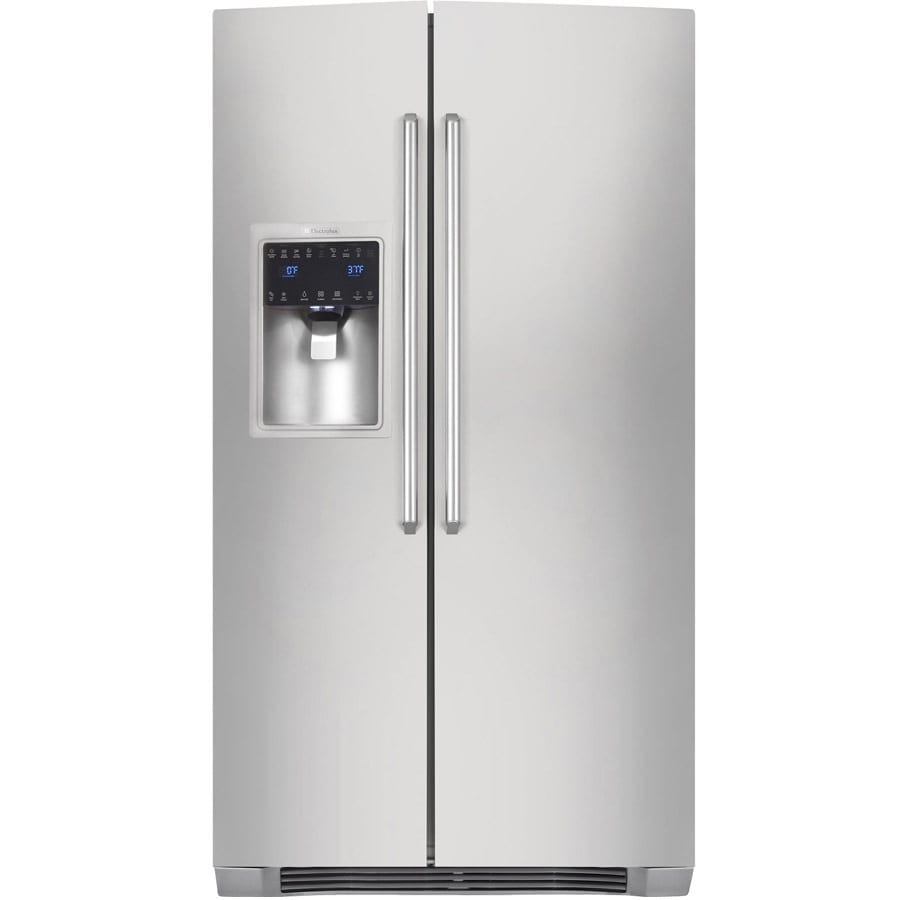 Electrolux 22.6-cu ft Counter-Depth Side-by-Side Refrigerator with Ice Maker (Stainless Steel)