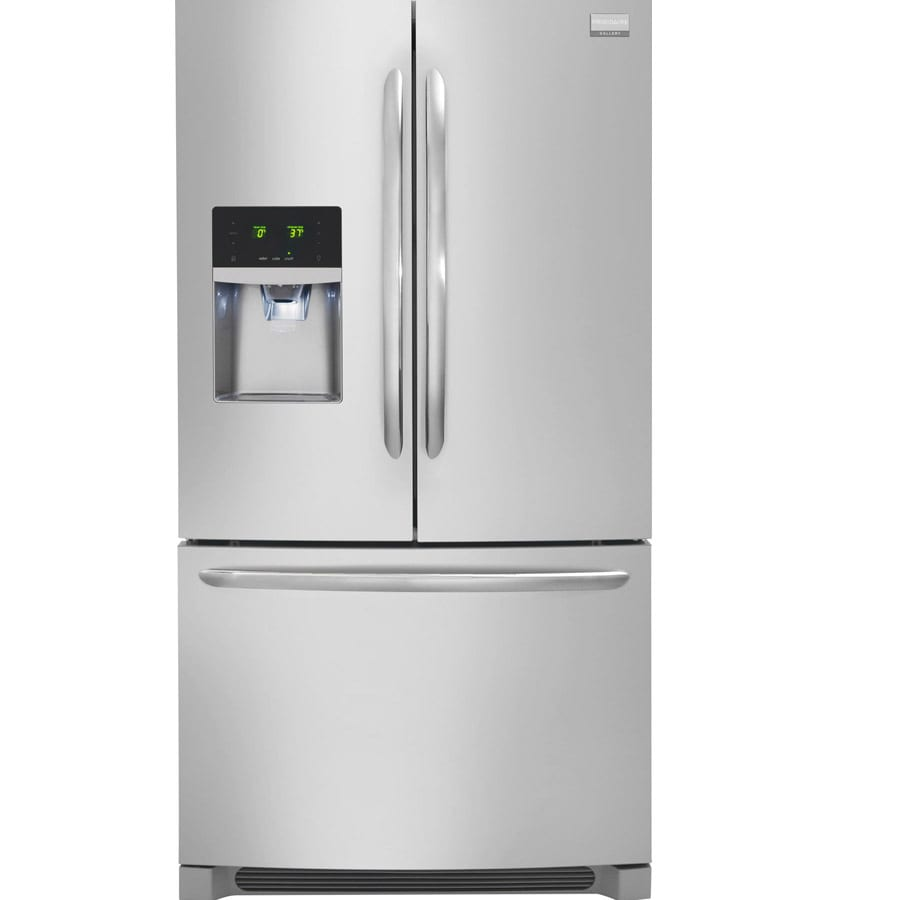 Frigidaire Gallery 22.6-cu ft Counter-Depth French Door Refrigerator with Single Ice Maker (Smudge-Proof Stainless Steel) ENERGY STAR