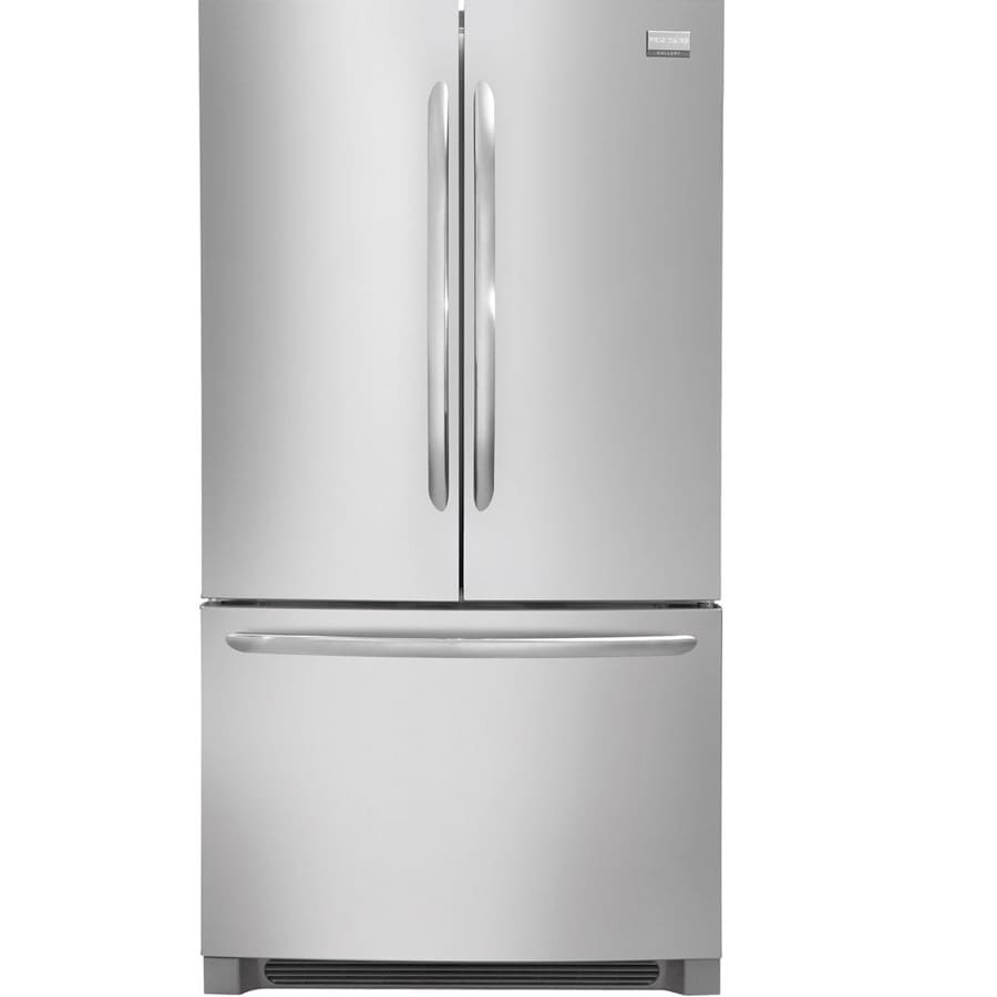 doors shop easycare ft stainless maker with refrigerator star door french pd frigidaire steel ice cu energy