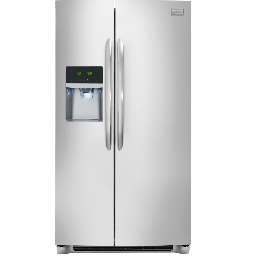 Frigidaire Gallery 22.6-cu ft Side-by-Side Refrigerator with Single Ice Maker (Smudge-Proof Stainless Steel) ENERGY STAR