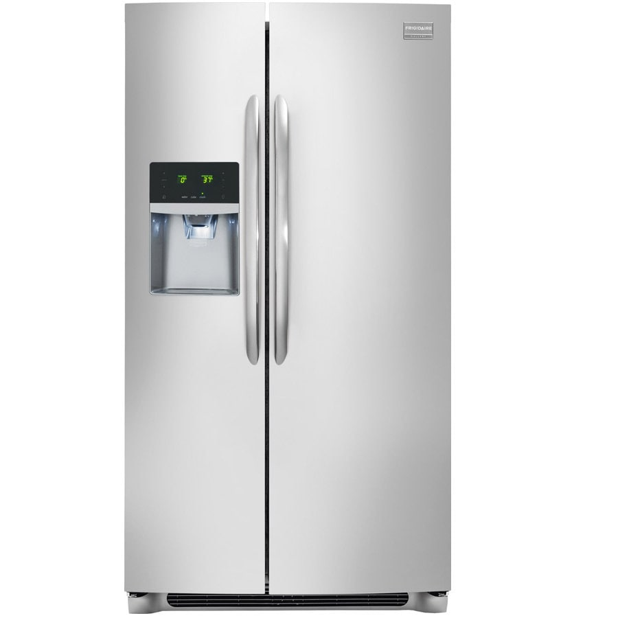 Frigidaire Gallery 22.2-cu ft Counter-Depth Side-by-Side Refrigerator with Ice Maker (Smudge-Proof Stainless Steel)