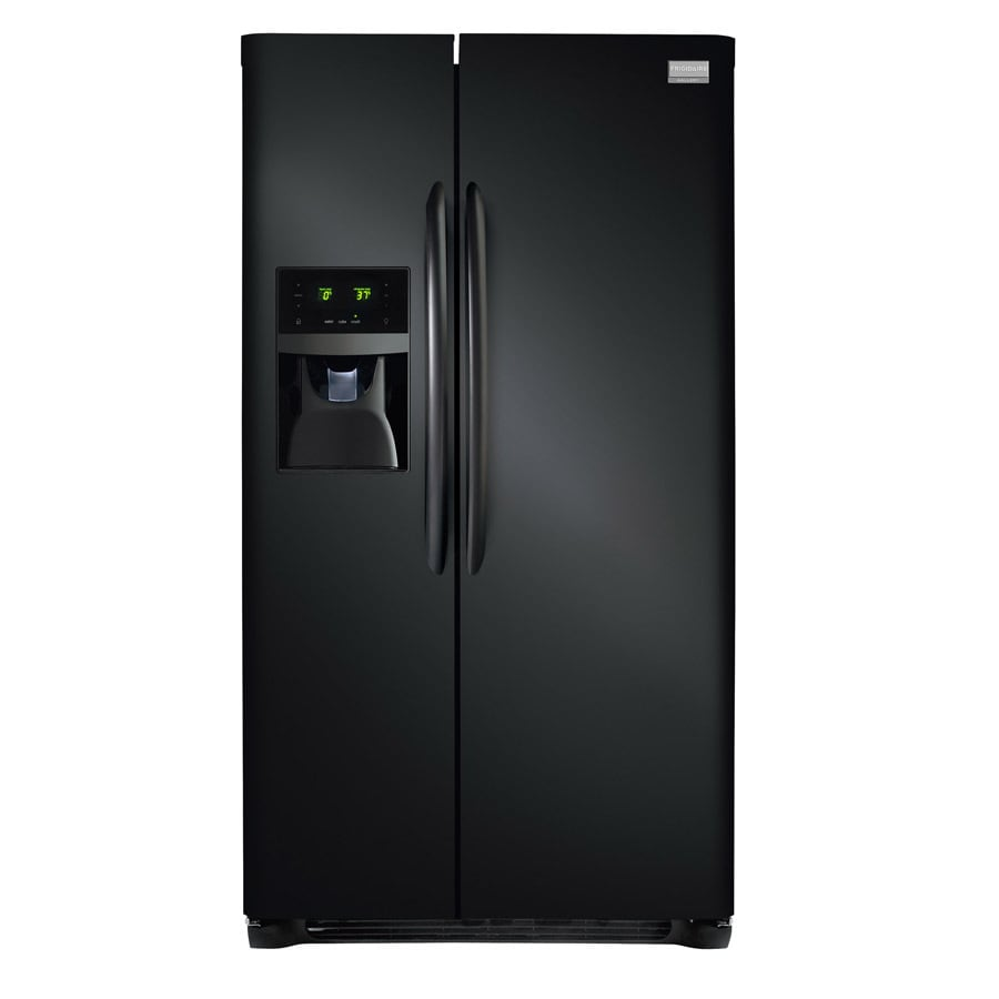 Frigidaire Gallery 26-cu ft Side-by-Side Refrigerator with Ice Maker (Black) ENERGY STAR