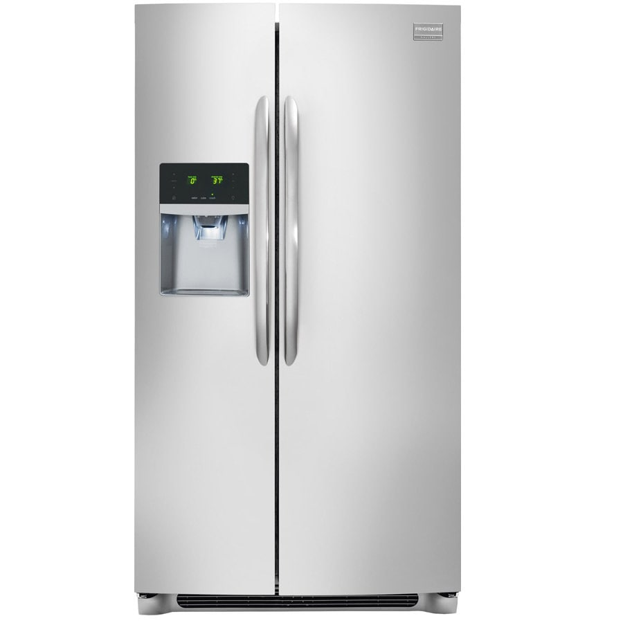 Frigidaire Gallery 26-cu ft Side-by-Side Refrigerator with Single Ice Maker (Smudge-Proof Stainless Steel) ENERGY STAR