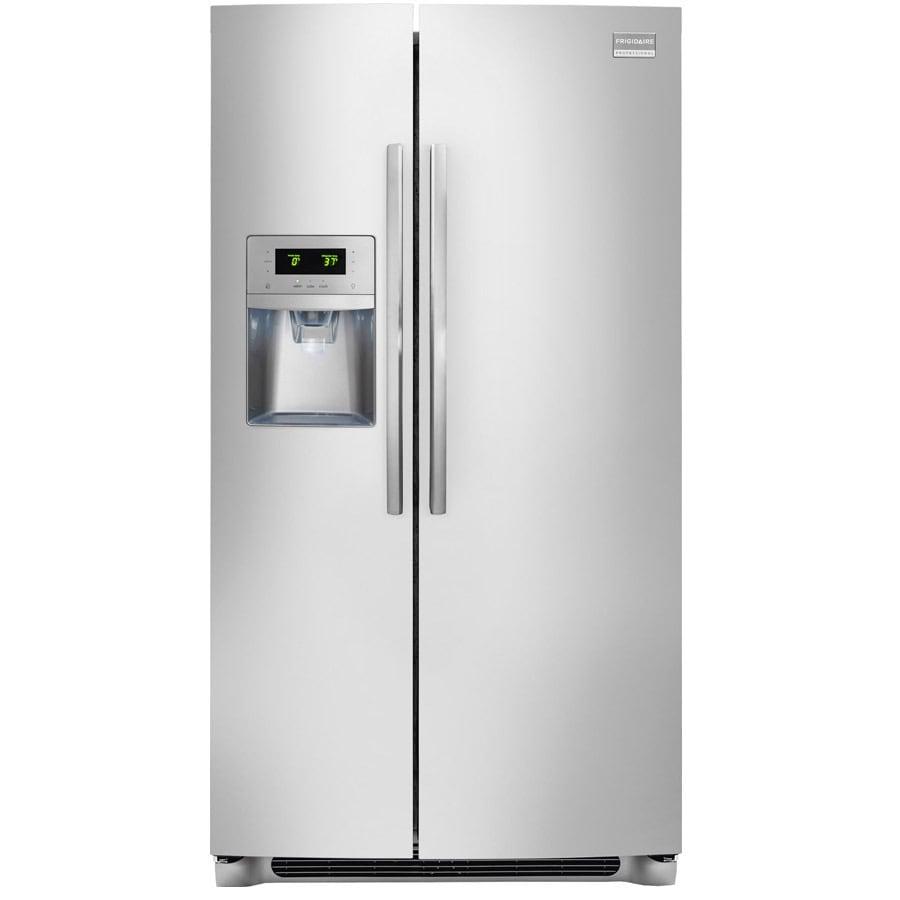 Frigidaire Professional 26-cu Ft Side-By-Side Refrigerator