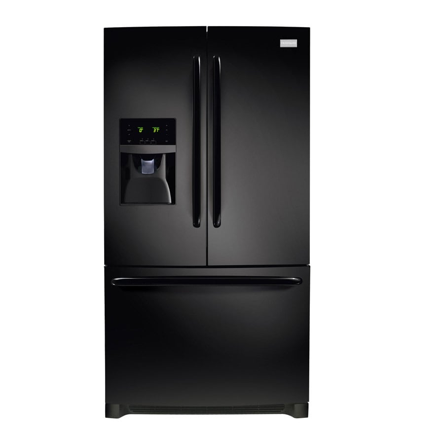 Frigidaire 27.19-cu ft French Door Refrigerator with Single Ice Maker (Black) ENERGY STAR