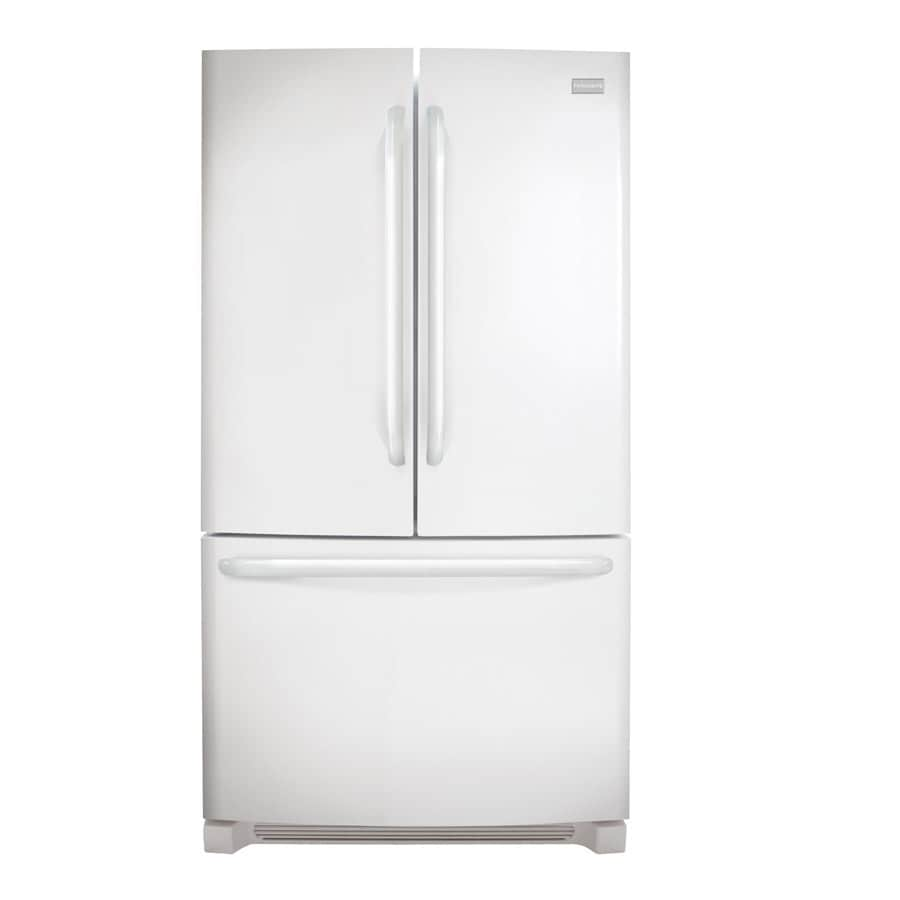 Frigidaire 26.7-cu ft French Door Refrigerator with Single Ice Maker (White) ENERGY STAR