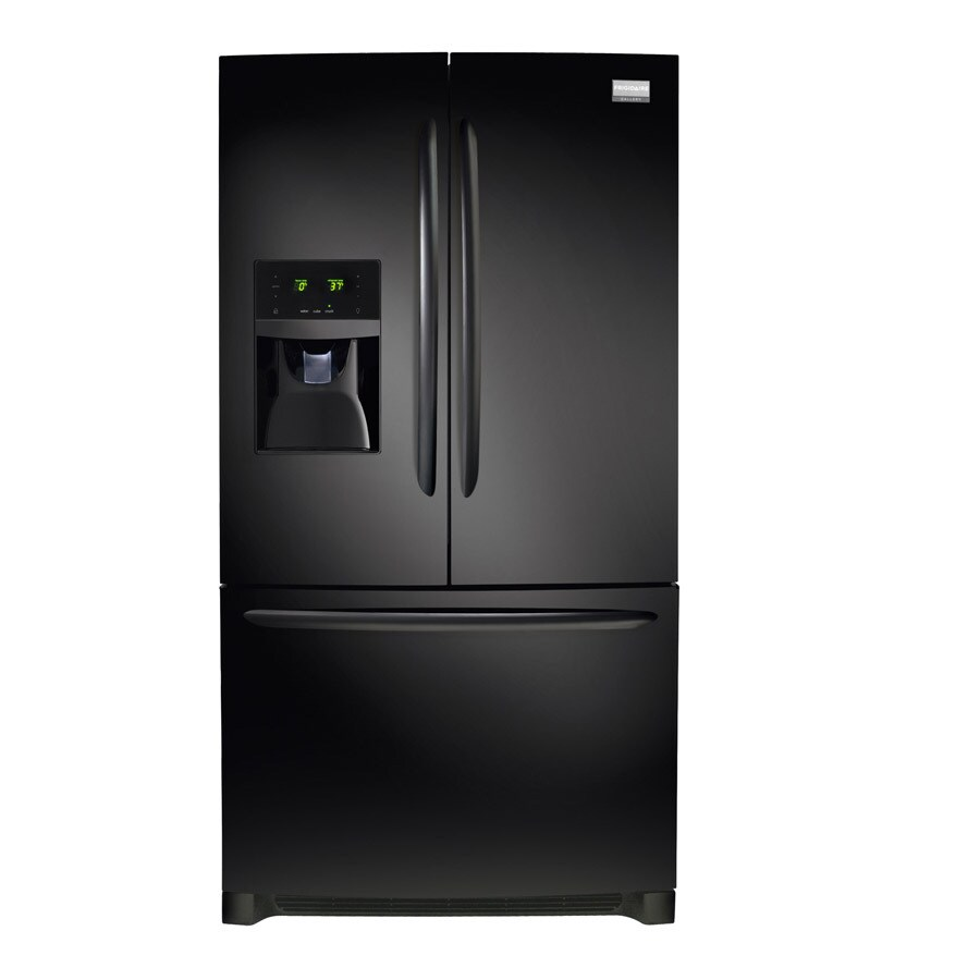 Frigidaire Gallery 27.7-cu ft French Door Refrigerator with Ice Maker (Black) ENERGY STAR