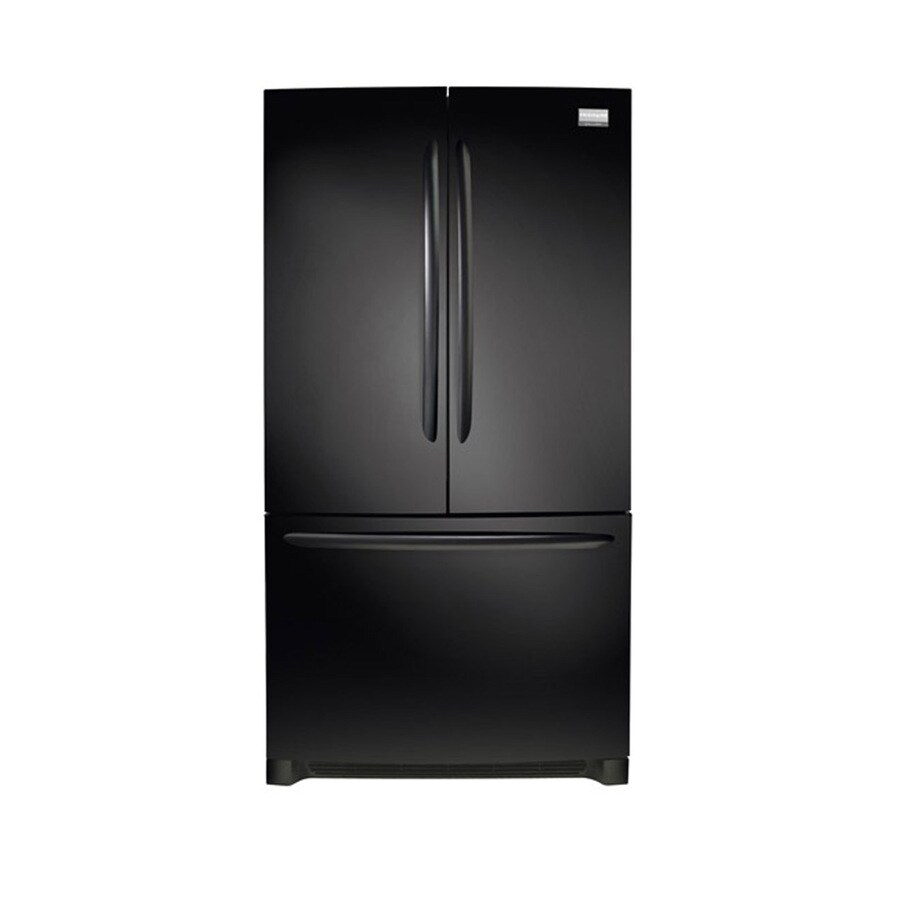 Frigidaire Gallery 27.7-cu ft 3-Door French Door Refrigerator Single Ice Maker (Black) ENERGY STAR