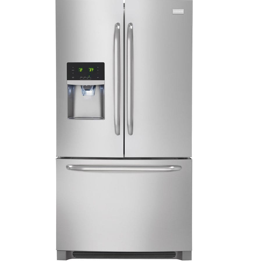 Frigidaire 27.19-cu ft French Door Refrigerator with Single Ice Maker (Easycare Stainless Steel) ENERGY STAR