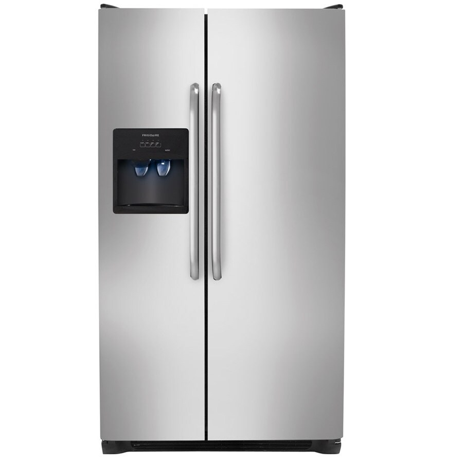 Frigidaire 22.07-cu ft Side-by-Side Refrigerator with Single Ice Maker (Easycare Stainless Steel)