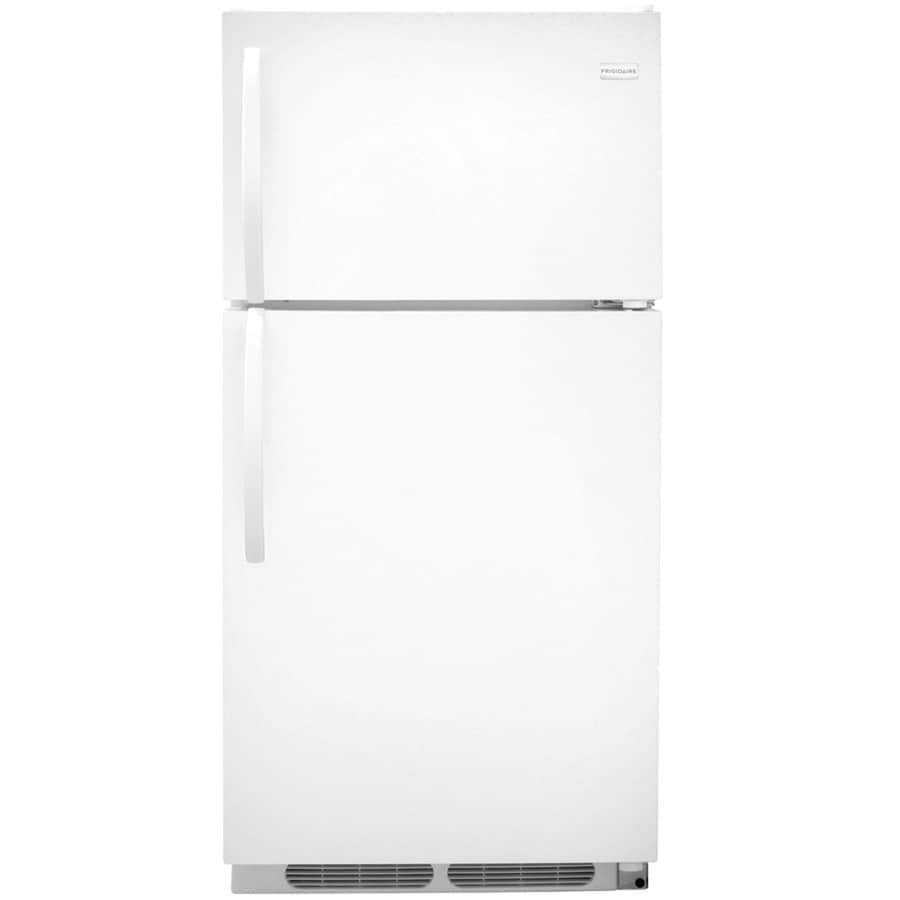 Shop Frigidaire 14.6-cu ft Top-Freezer Refrigerator (White) at Lowes.com
