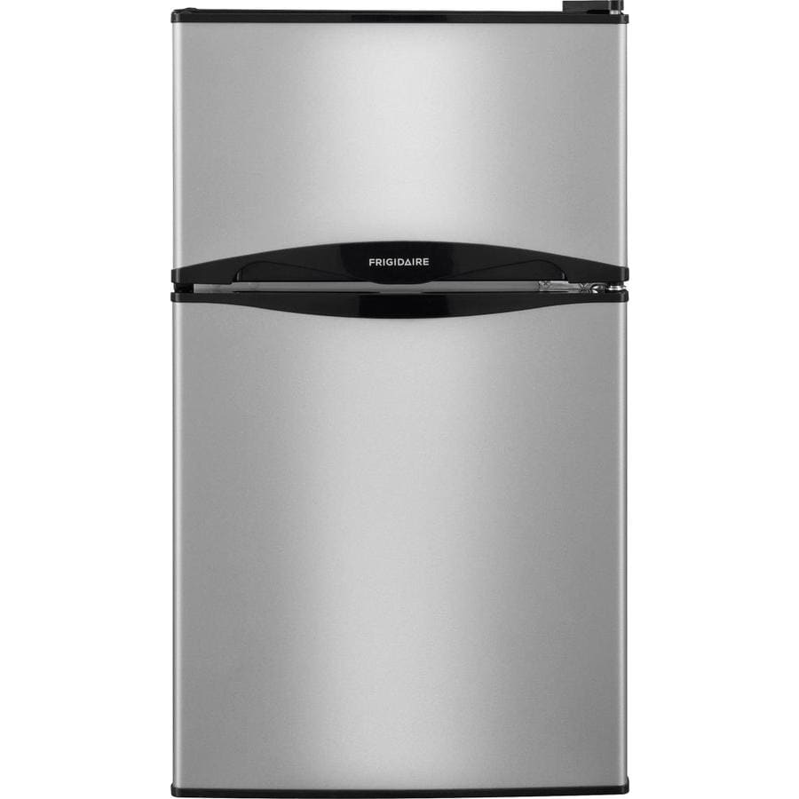 Frigidaire 3.1 Cu Ft Freestanding Mini Fridge Freezer Compartment (Silver  Mist) ENERGY STAR