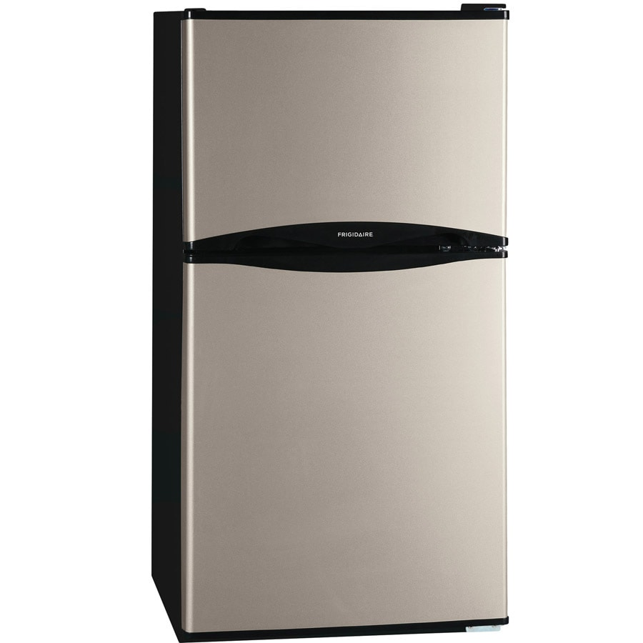 refrigerator 7 5 cu ft. frigidaire 4.5-cu ft freestanding compact refrigerator with freezer compartment (silver mist) energy 7 5 cu