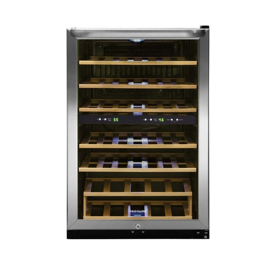 Frigidaire 38 Bottle Stainless Steel Dual Zone Cooling Wine Chiller