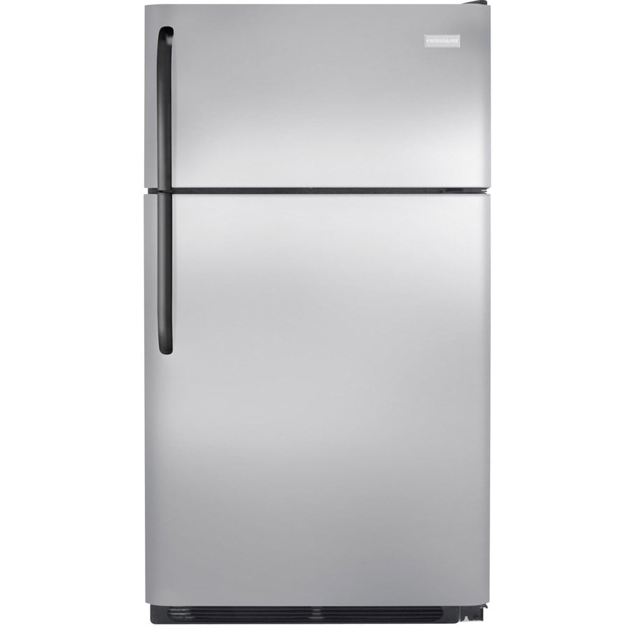 shop frigidaire 18 cu ft top freezer refrigerator stainless at. Black Bedroom Furniture Sets. Home Design Ideas