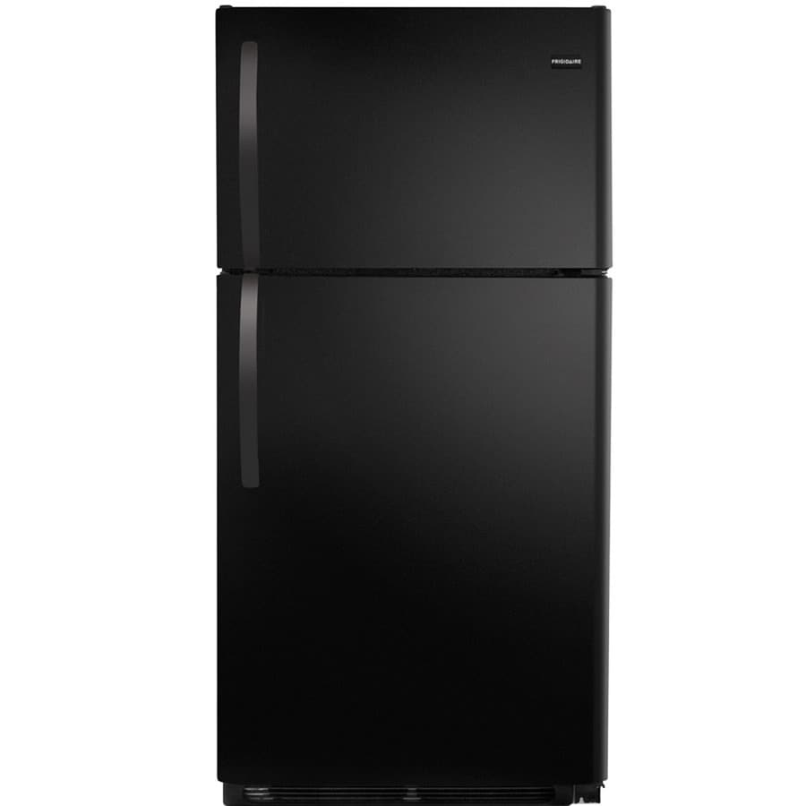 Shop Frigidaire 14 6 Cu Ft Top Freezer Refrigerator Black