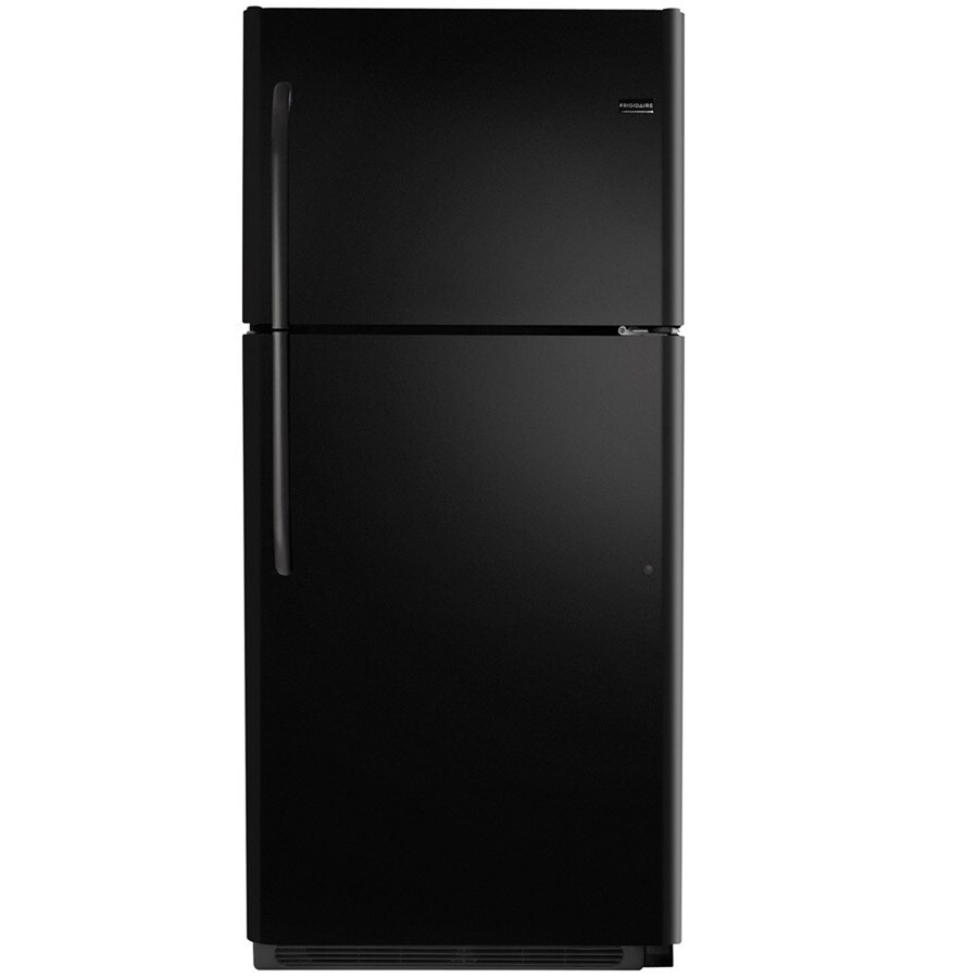 Frigidaire 20.5-cu ft Top-Freezer Refrigerator (Black) ENERGY STAR