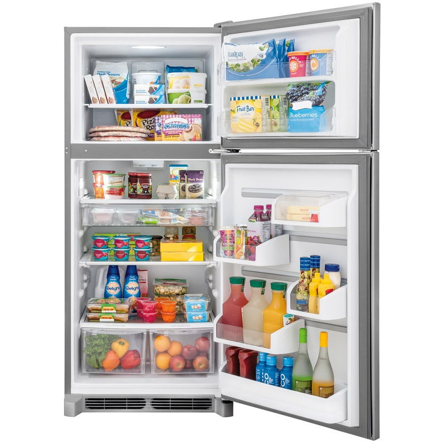 Frigidaire Gallery 20 4 Cu Ft Top Freezer Refrigerator Smudge Proof Stainless Steel