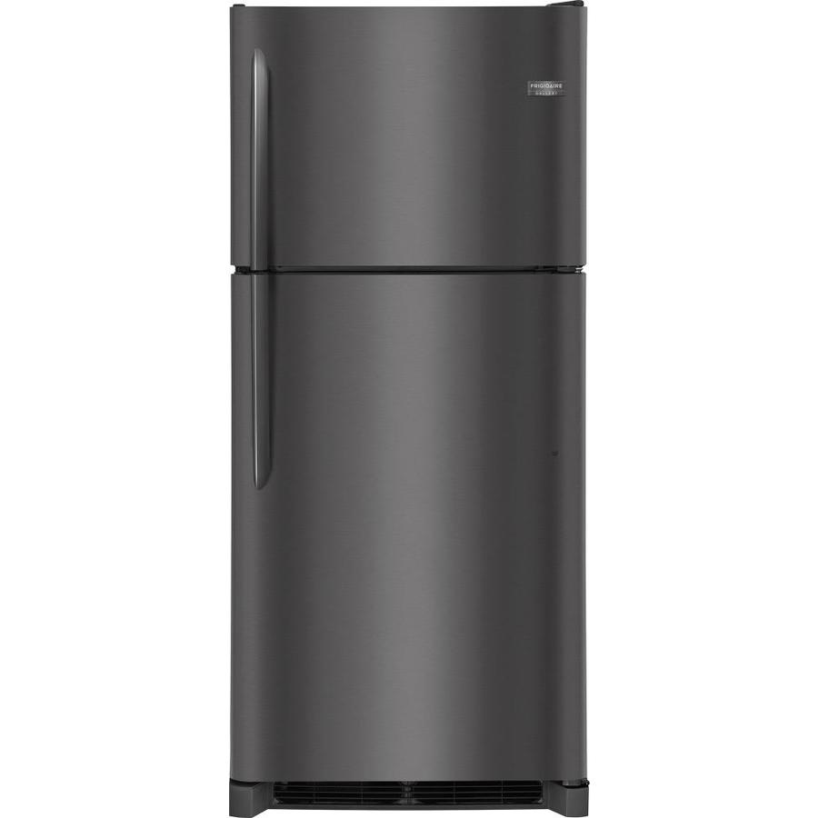 Frigidaire Gallery 20.4-cu ft Top-Freezer Refrigerator (Fingerprint-Resistant Black Stainless Steel)