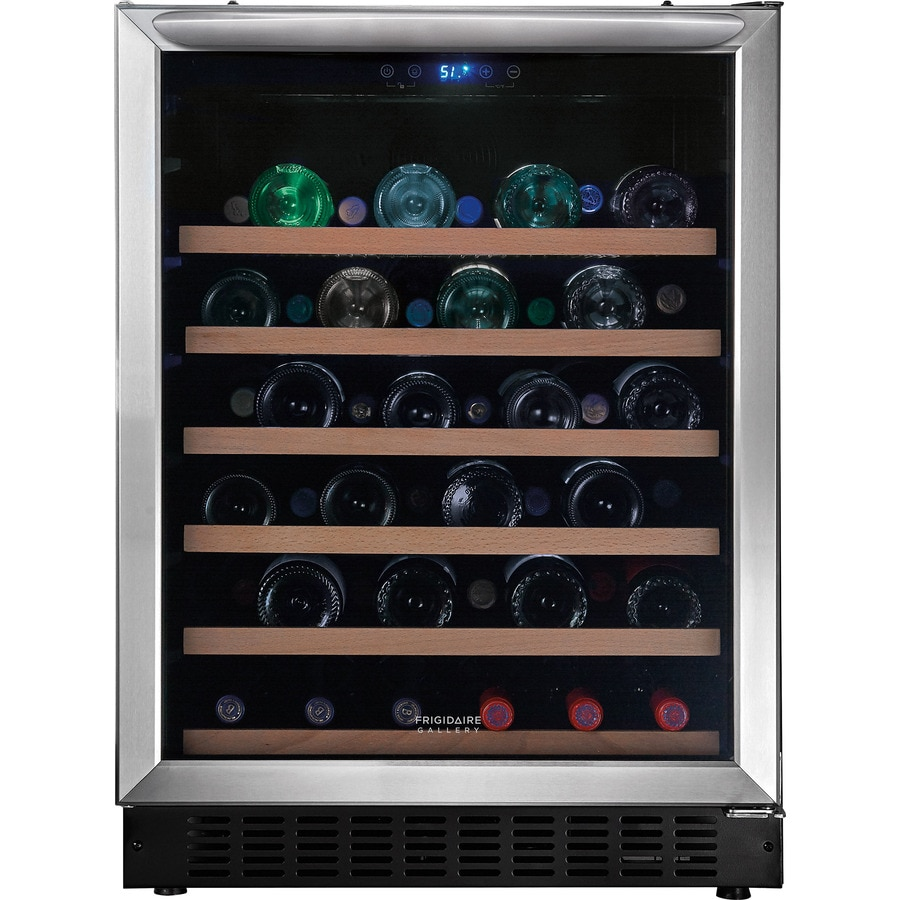 Shop Frigidaire 46 Bottle Stainless Steel Wine Chiller At
