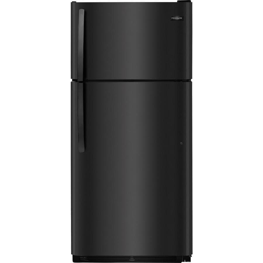Shop Frigidaire 18 Cu Ft Top Freezer Refrigerator With Ice Maker Im Wiring Harness Diagram Black Energy