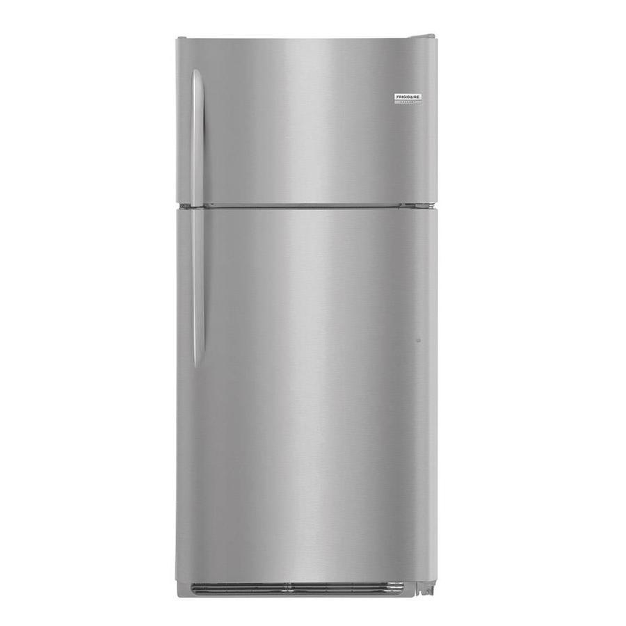 Frigidaire Appliance Logo Shop Frigidaire Gallery 18Cu Ft Topfreezer Refrigerator Smudge