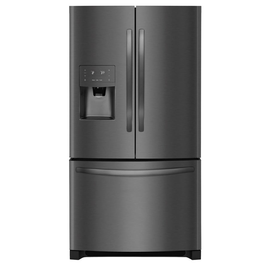 Frigidaire 26.8-cu ft 3-Door French Door Refrigerator with Single Ice Maker (Black Stainless Steel) ENERGY STAR