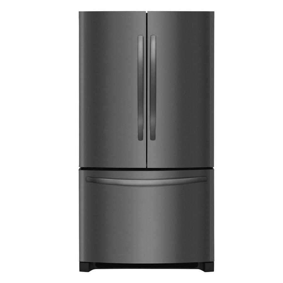 Frigidaire 22.4-cu ft Counter-Depth French Door Refrigerator with Ice Maker (Fingerprint-Resistant Black Stainless Steel) ENERGY STAR