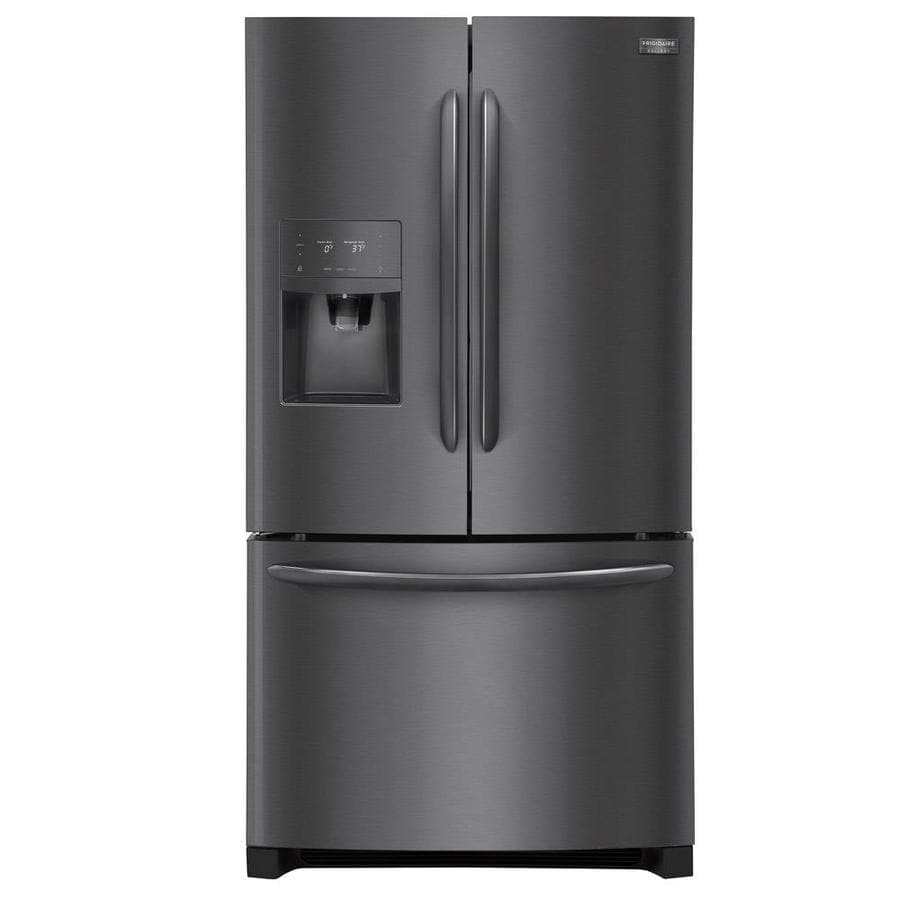 Frigidaire Gallery 21.7-cu ft Counter-Depth French Door Refrigerator with Ice Maker (Fingerprint-Resistant Black Stainless Steel) ENERGY STAR